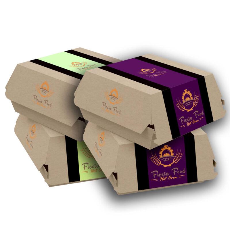 Mini Kraft Burger Boxes