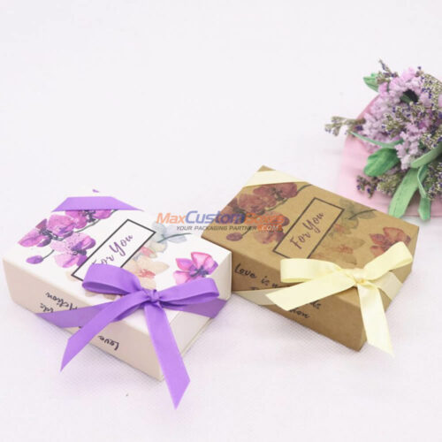 Custom Gift Boxes With Ribbon