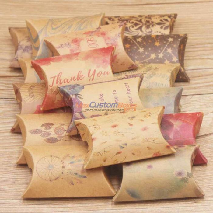 Kraft Pillow Boxes Wholesale