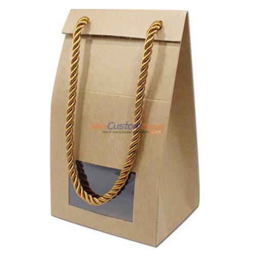 Custom Kraft Gift Box Pvc Window