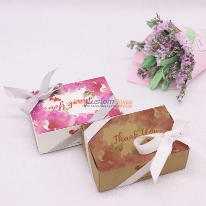 Custom Kraft Gift Boxes With Ribbon