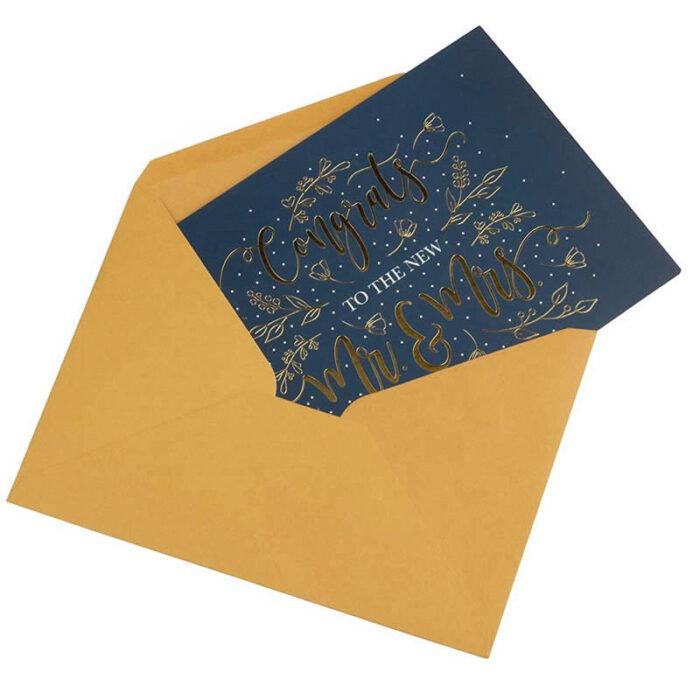 Wedding Card Box With Envelops